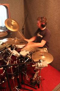 Zufallsbild - Rosenquarz-Studio 2012 - Drum-Recording