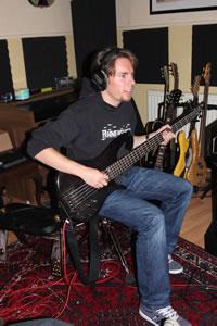 Rosenquarz-Studio 2012 - Bass-Recording